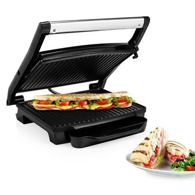 PANINI GRILL contatto in acciaio inox-GRILL Sandwich-Maker Tostapane grande superficie grill